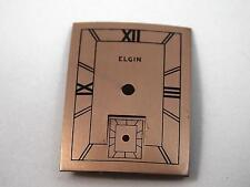 Elgin Watch Dial Vintage Mens 23mm by 17mm Copper Black Markers New Old Stock