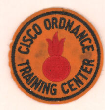 Cisco Ordnance Training Center Emb on yellow felt Army Patch insignia