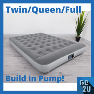 12in Air Mattress Bestway Built in Ac Pump Durable Comfort Bed Sleep Camping New