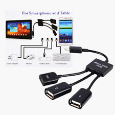 3in1 Micro USB 2.0 OTG Hub Host Extension Adapter Cable For Android Phone&Tablet