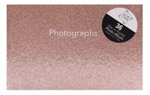 "6""x4"" - 36 Pockets Slip In Mini Photo Album - Rose Marble Design"