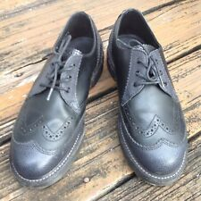 Dr Martens Docs Black Oxford Wingtip Shoes Mens 7 Womens 8 UK 6 EU 39 Kelvin