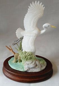 White Heron by Andrea Sadek Figurine