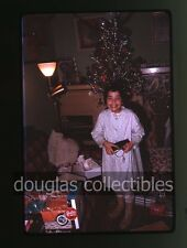 1963 35mm Kodachrome Photo slide Happy Girl with barbie doll Sports Car