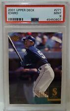 2001 Upper Deck Ichiro Suzuki RC #271 - PSA 9 MINT Seattle Mariners Rookie