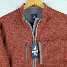 NWT JOHNNIE-O $145 Size Large Mens Full Zip Lined Coastal Fleece Jacket Coat New