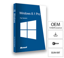 Microsoft Windows 8.1 Professional ✔ 32/64BIT ✔ MS® Windows ✔ PRO VOLLVERSION ✔
