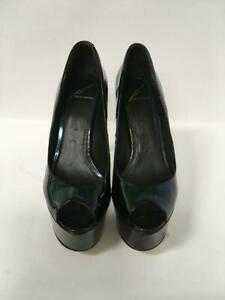 Brian Atwood Bambola Platform Open Toe Size 7.5 Pumps