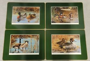 Waterfowl Placemats Made In England by cloverleaf gold edge