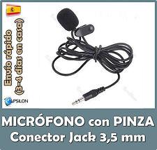 Micrófono pinza para Portátil - Microfono Skype PC - Microfono grabadora digital
