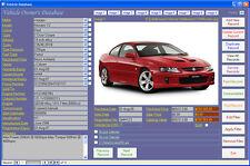 Car Maintenance Database Software - Computer Log Book Windows 7/8/10 XP Vista