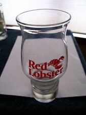 Collectible Red Lobster Glass Votive Candle Hurricane