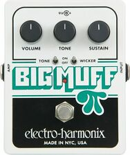Electro-Harmonix Big Muff Pi with Tone Wicker Distortion Guitar Pedal +Picks