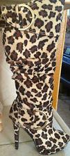 NIB Promiscuous Leopard print Boots size 5.5 CUTE!!