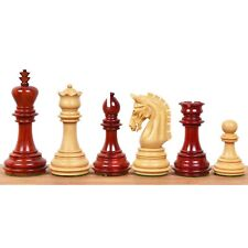 "3.8"" Imperial Staunton Chess Pieces Only set - Weighted Bud Rose Wood"