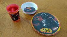 Star Wars Children's Dinnerware Plate/Bowl/Cup Set & Zak!Snak Droid Snack Cup
