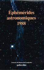 livre: éphémérides astronomiques 1988. gaulthier-villars. G