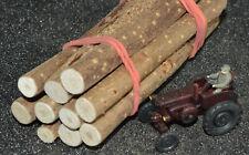 Ladegut Holz, Stämme Naturholz ca. 95 mm lang Ø 7,00 - 11,00 mm, 10 Stück