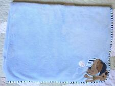 Garanimals Polyester Blue Fleece Appliqued Puppy Dog & Baseball Baby Boy Blanket