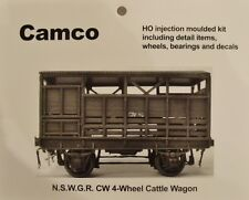 "CW CATTLE VAN WAGON KIT HO ""Silvermaz Model Railways"" NSWGR 4 WHEELER"