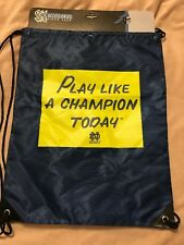3116e54c7a Notre Dame Fighting Irish PLAY LIKE A CHAMPION TODAY Backpack Sack Shoe Bag  NEW!