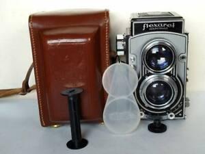 Tested Czechoslovakia Meopta TLR Camera Flexaret VI automat Metax w leather case