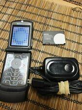 Motorola Razr V3 Black Classic Flip Phone No Gps - No Spying