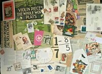 Paper Ephemera vintage Junk Journal Air Mail Stamps Scrapbook Card Making Button