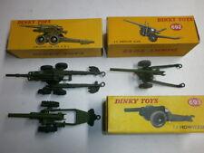 Liasse 3 anciennes DINKY TOYS metallguss canons Pak obusiers 692 693 80e Neuf dans sa boîte