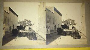 (ALGÉRIE) Non Situées , VERS 1910 .Deux PHOTOS STÉRÉOS.