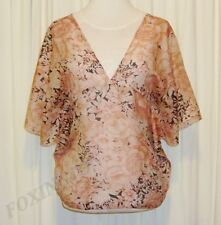 BEAUTIFUL PAUL & JOE FLORAL PRINT SILK TOP SIZE 3 (AUS 12,US 6/8) Made in France