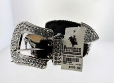 32 Black Wildfire Leather and Crystal Belt