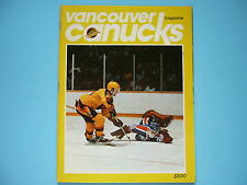1983/84 VANCOUVER CANUCKS EDMONTON OILERS HOCKEY PROGRAM ANDY MOOG THOMAS GRADIN