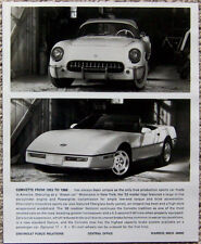 BLACK & WHITE PHOTOGRAPH ~ 1953 - 1988 CORVETTE ~ WITH NEWSPAPER CAPTION