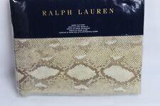 Ralph Lauren Home Great Sands Sellek Cotton/Linen Queen Flat Sheet Python $215