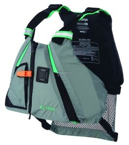 Onyx MoveVent Dynamic Life Vest PFD, Adult M/L, AQUA / Gray (122200-505-040-18)