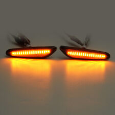 For BMW E82 E88 E60 E61 E90 E91 E92 E93 Smoke Lens Yellow LED Side Marker Light