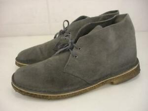 Mens 11 M Clarks Originals Desert Suede Leather Gray Gum Sole Chukka Boots 79036