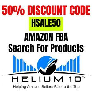 HELIUM 10 50% OFF DISCOUNT CODE first month AMAZON FBA Helium product amazon