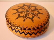 Romanian Wooden Treen Bowl With Lid.