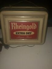 Vintage Rheingold Beer Sign With Light Bulb advertising display Man cave Gift