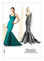 V2931 Vogue Sewing Pattern Misses' Designer Bellville Sassoon Gown Mermaid Dress