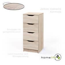 Kommode 4 Schubladen Sideboard Mehrzweckschrank Anrichte Sonoma Eiche Optik