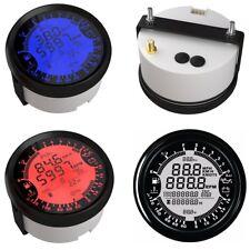 6 in 1 85MM Tachometers GAUGE WATER OIL TEMP PRESSURE Voltmeter GPS 12V