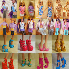 40 Pair Shoes High-heels Boots For Barbie Doll Dress Accessories