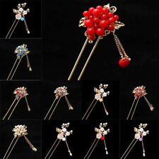 Ancient Pearl Tassel Chinese Hairpin Handcraft Hair Pin Clip Accessories Girl