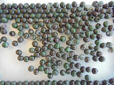 6mm rubber beads for carp fishing x 25 beads.camo.