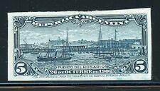 Argentina Rosario Port Specialized: Scott #143 5c Dark Blue PROOF GALZED $$$