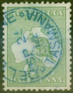 Australia 1913 1/2d Green SG1 Superb Used DELORAINE TASMANIA SP 25 14 CDS in