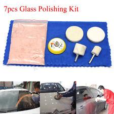 7pcs 70g Cerium Oxide Windscreen Scratch Remover Glass Polishing Kit 2'' Pad